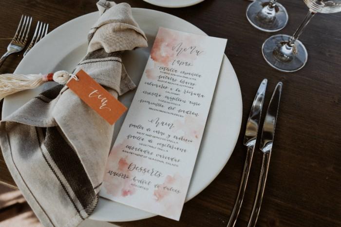 menu destination wedding barcelona